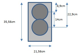 RT-M-WG Baffle drawing